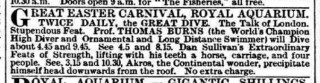Royal Aquarium advertisement 1893
