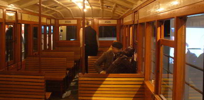 Overhead Railway Carriage Interior