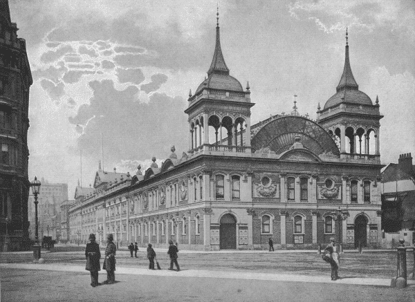 LONDON AQUARIUM: Victorian palace of entertainment where Tommy Burns topped the bill at the height of his career. The photograph is from an 1896 book - The Queen's London: a Pictorial and Descriptive Record of the Streets, Buildings, Parks and Scenery of the Great Metropolis.