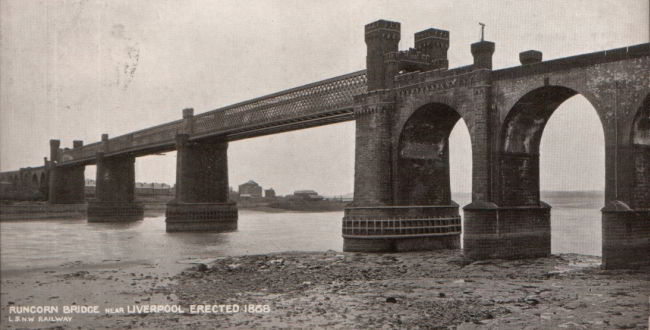 Runcorn Railway Bridge - scene of a contest between Tommy Burns and Carlisle D. Graham.