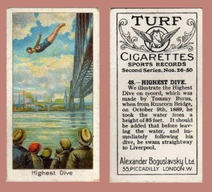 Cigarette Card Highest Dive